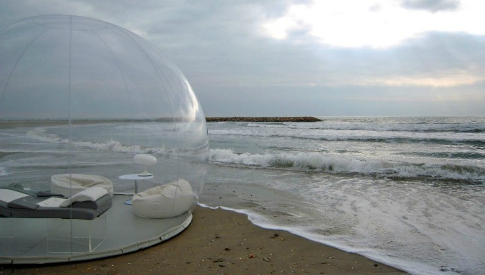 Bubble Tent in the beach