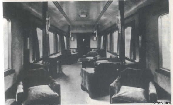 Inside older picture Mussolini Carriage