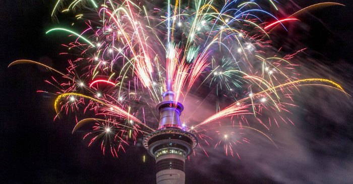 Auckland Sky Tower New Years Eve 2017