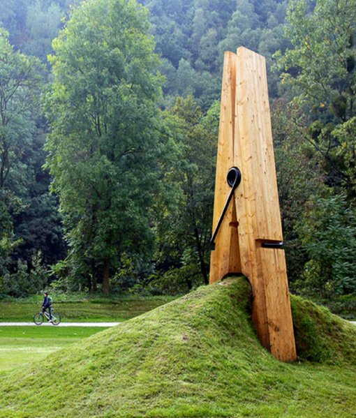 Giant Clothespin Sculpture