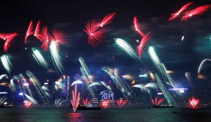 Hong Kong Victoria Harbour Central New Years Eve 217
