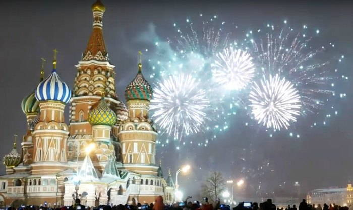 Moscow Kremlin Red Square New Years Eve 2017