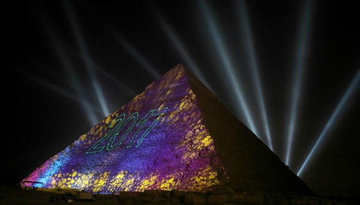 Pyramids Outskirts of Cairo Egypt New Years Eve 2017
