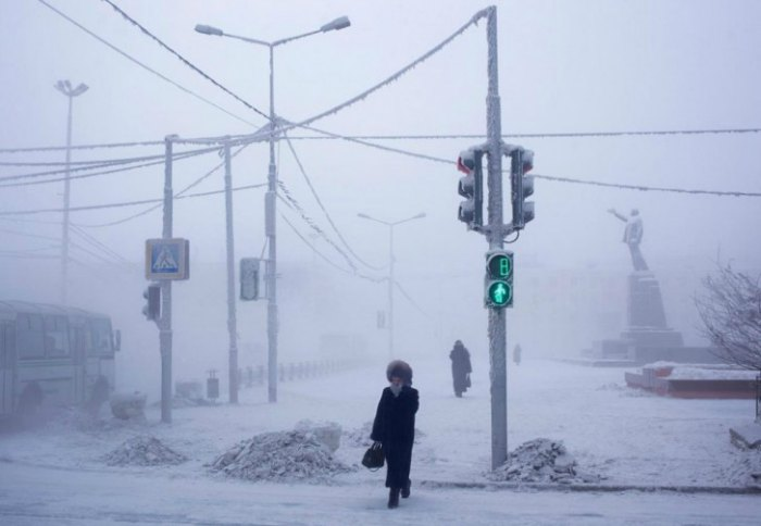 Verchojanks Siberia Winter
