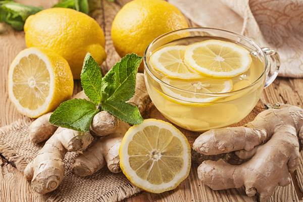 Losing weight with herbal tea, ginger