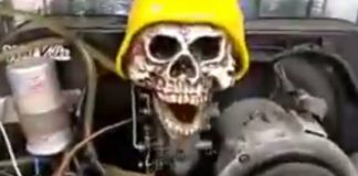 Skull Talk Car Engine