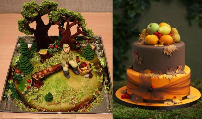 Autumn Season Theme Cake Design