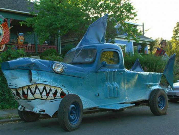 Shark Attack pickup truck