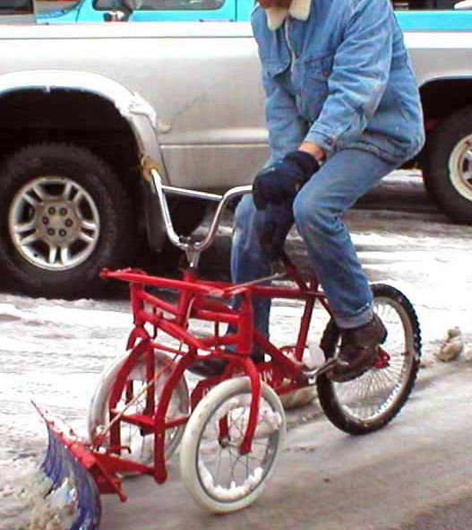 Bicycle Snowplow