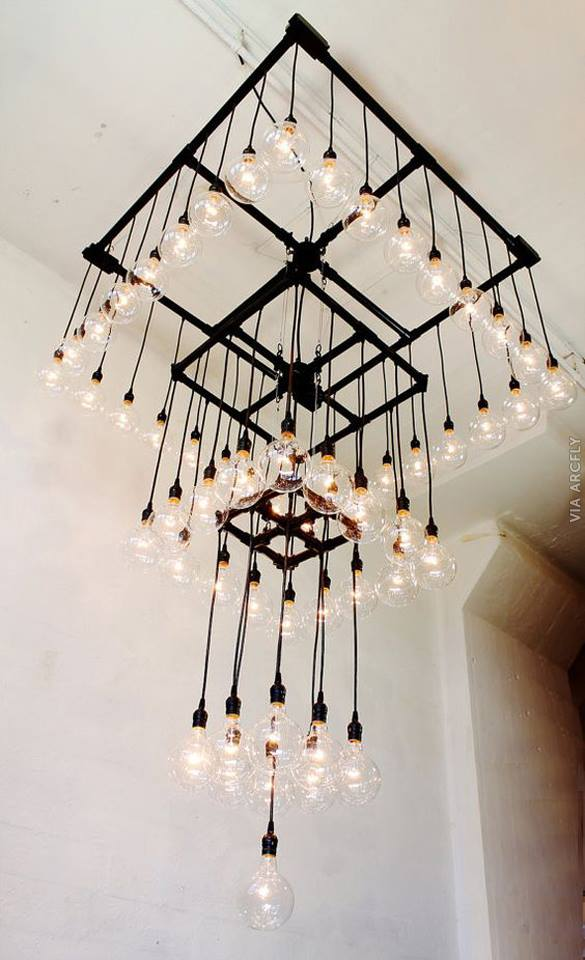 bulb light flood chandelier