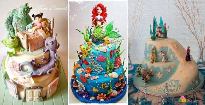 cartoon inspired cake art design
