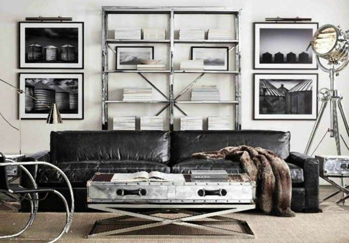 Nail Head Trim Coffee Table x-frame Legs