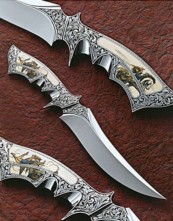 ornate oriental knives