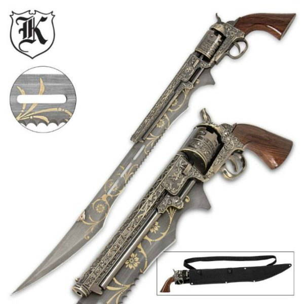 otherworld steampunk gun knife
