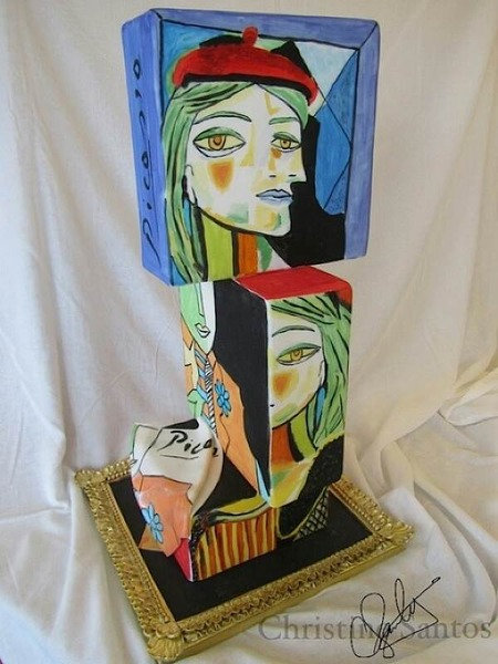 picasso paintings cake art