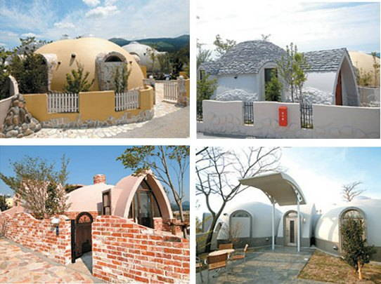 how polystyrene can become a wonderful dome house