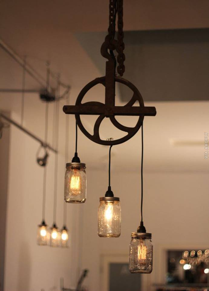 pulley jar lights