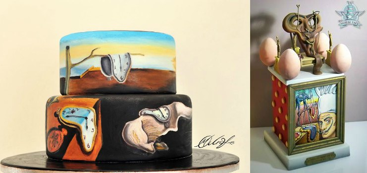 salvador dali painting inspired cakes