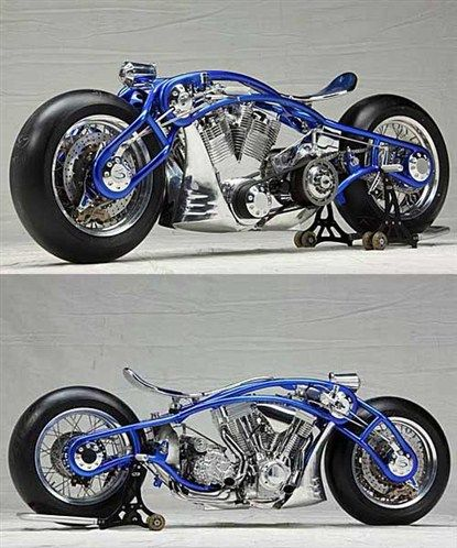 sinuous lines motorbike