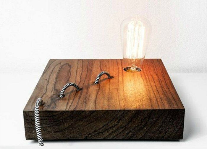 snake rope table lamp