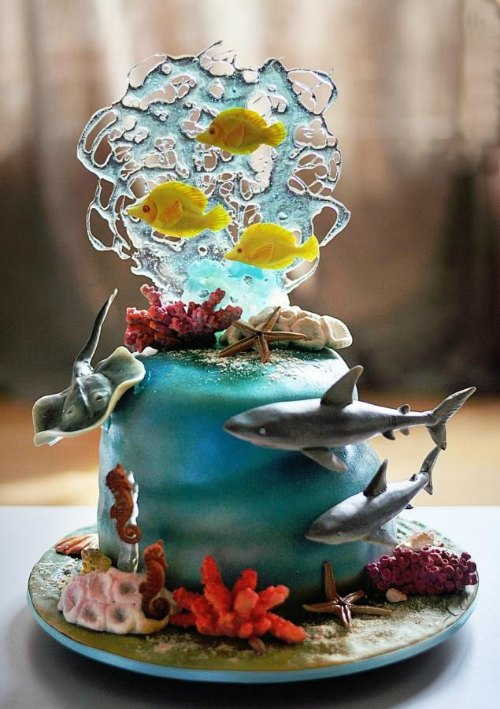 underwater world cake art