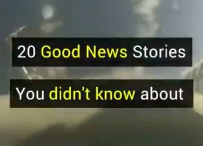 20 good news stories you didnt know about