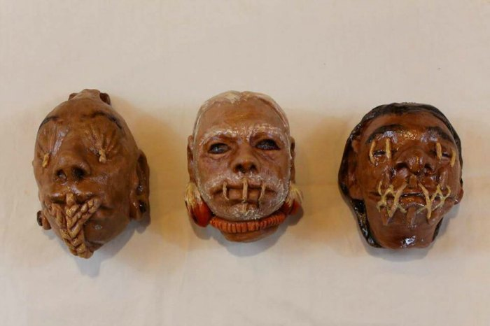 Shrunken head chocolate rice puff cakes