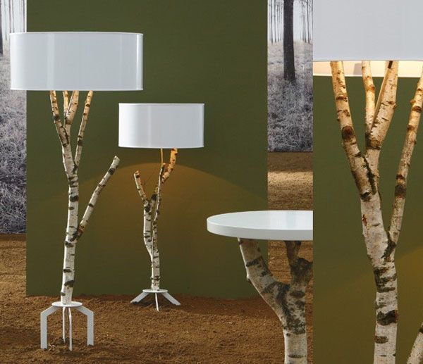 birch floor lamps