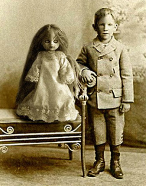 creepy kid doll