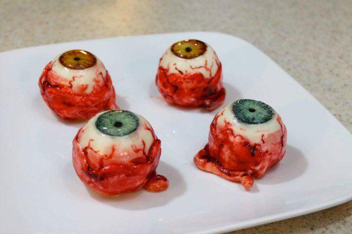 freshly plucked eyeballs cakes