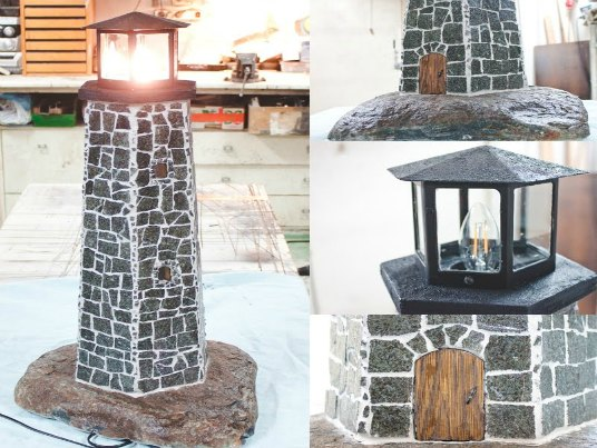 Lighthouse Natural Stone : How to make the ultimate stone lighthouse lamp video