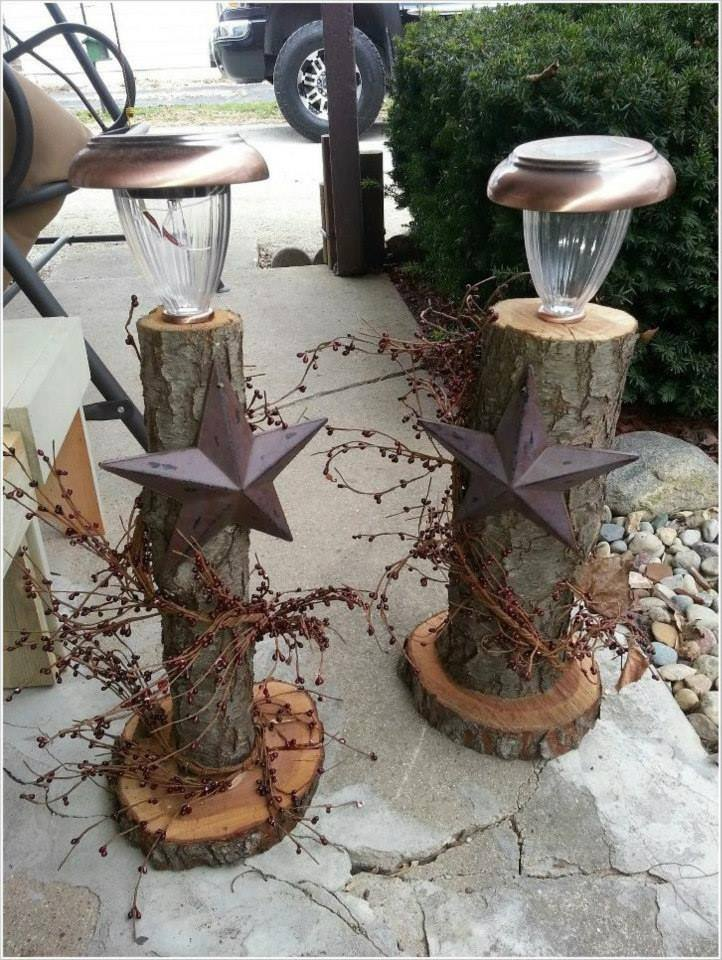 outdoor lighting logs