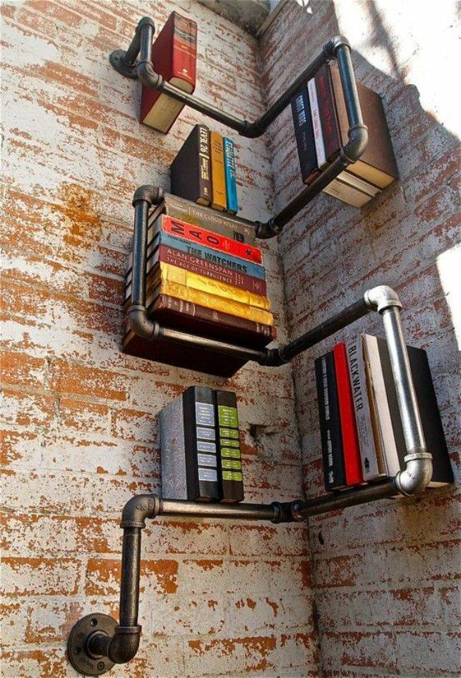 piping book shelves