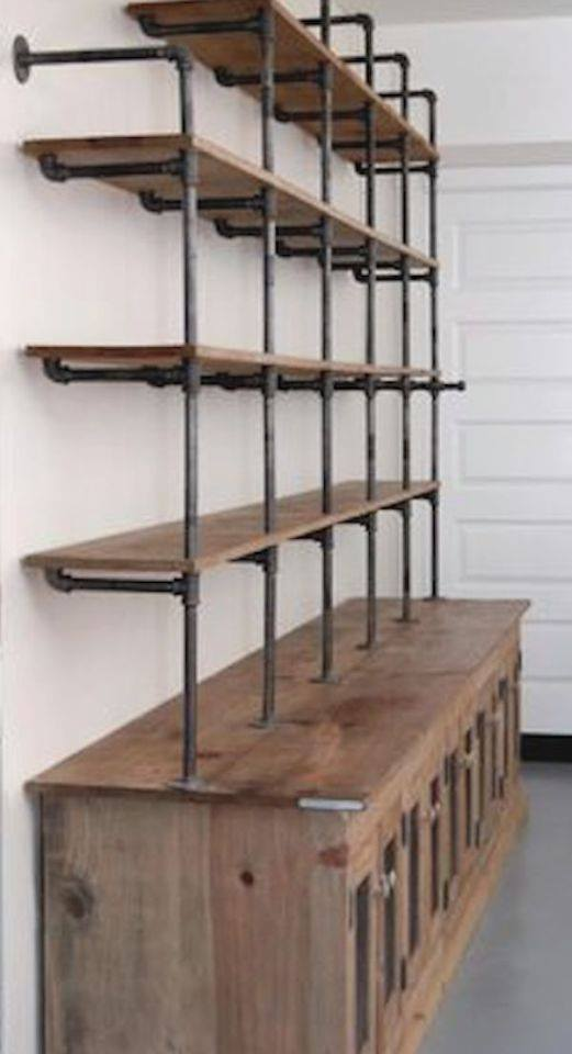 piping cabinet and shelves