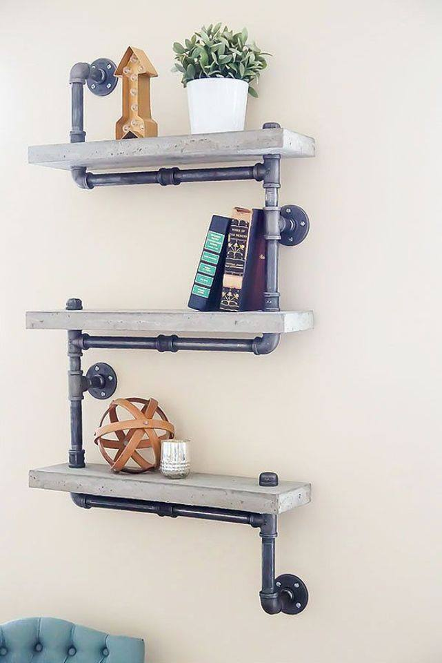piping shelving unit