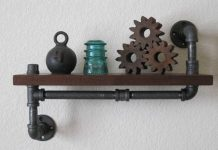 plumbing pipe decor industrial style