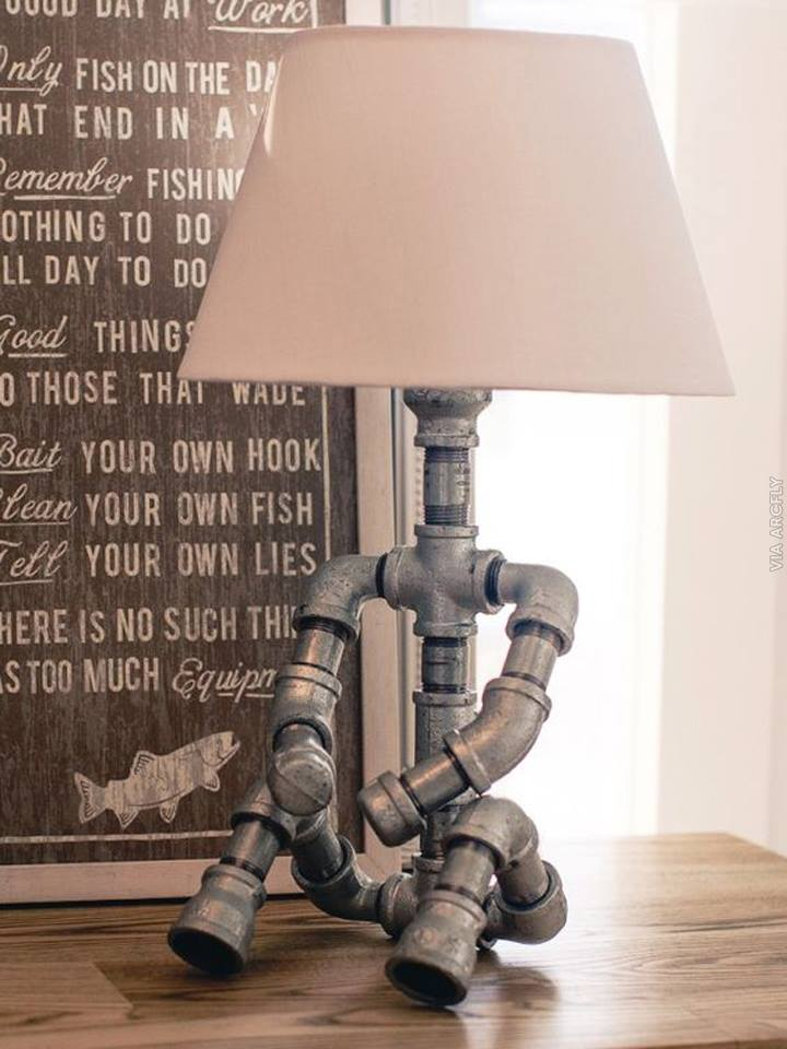 sitting puppet table lamp