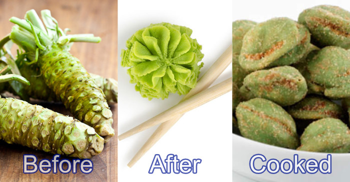 wasabi before-after-cooked