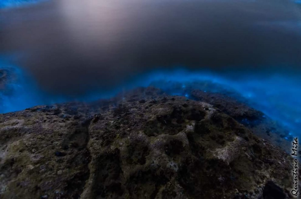 Italian sea water mysteriously turned electric blue