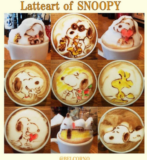 snoopy latte art collection