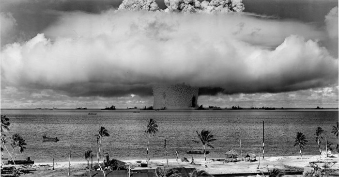radiation on bikini atoll