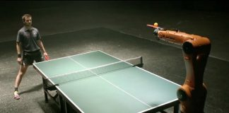 timo boll vs kuka play table tennis