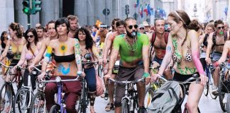 canterbury world naked bike ride 2017