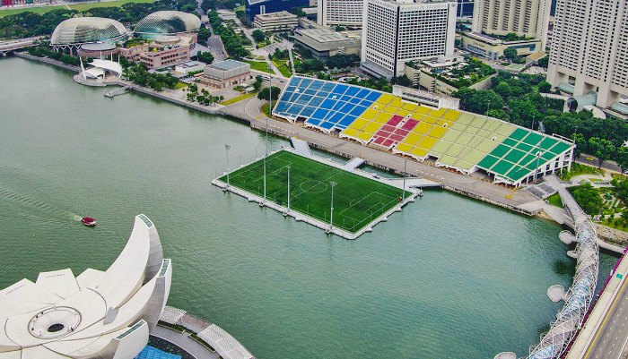 floating pitch marina bay singapore