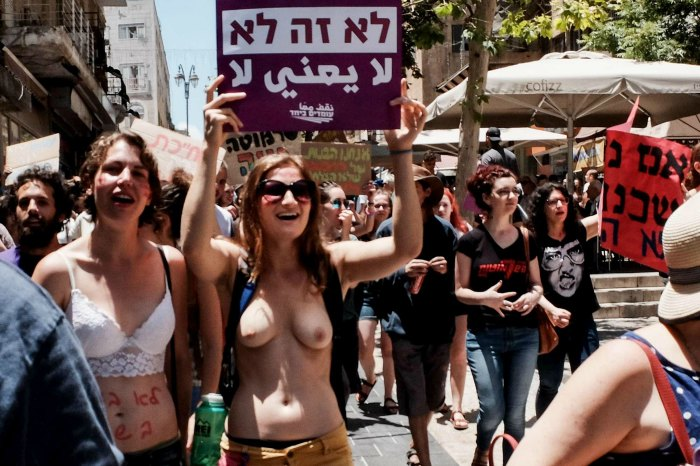 slut walk in jerusalem in topples