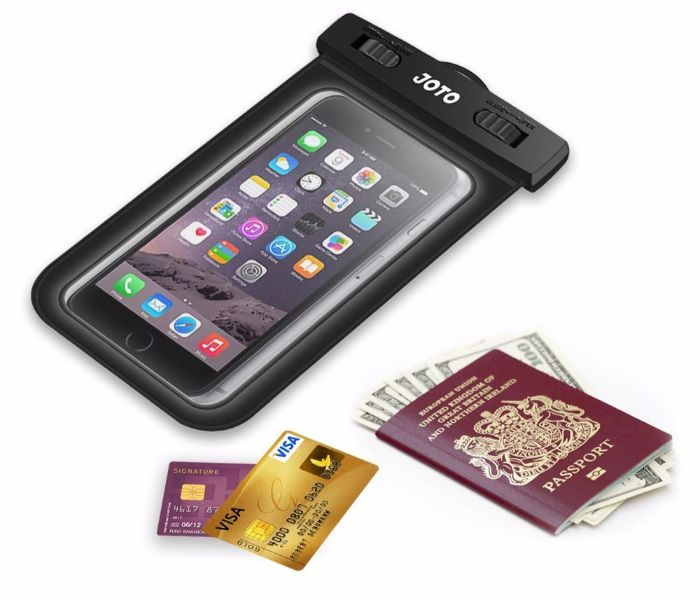 waterproof case for smartphone and documents