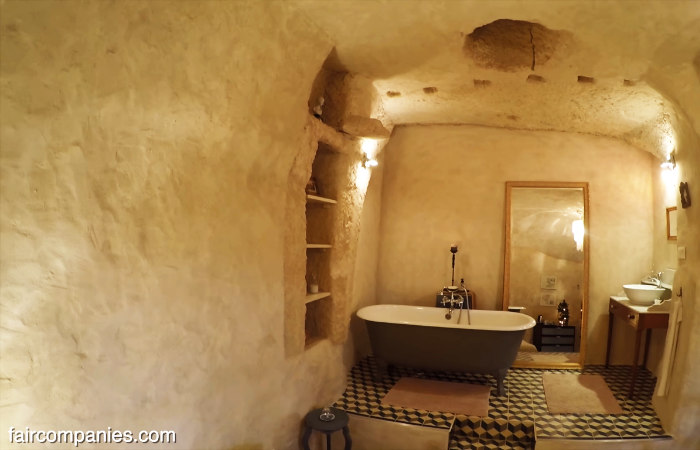 cave home bathroom