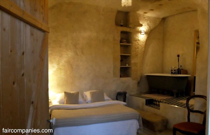 cave home bedroom