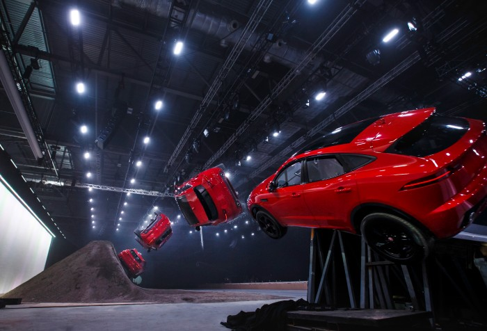 jaguar epace suv corkscrew-like barrel roll