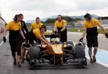 rosemary smith inside renault sport f1 car